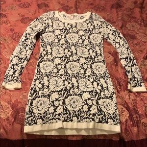Women's Knitted Floral Dress